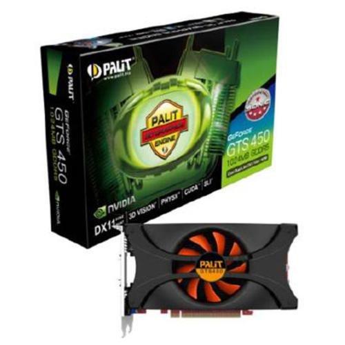 Palit Nvidia GeForce GTS 450 Grafikkarte (PCI-e, 1GB DDR 5 Speicher, HDMI, DVI)