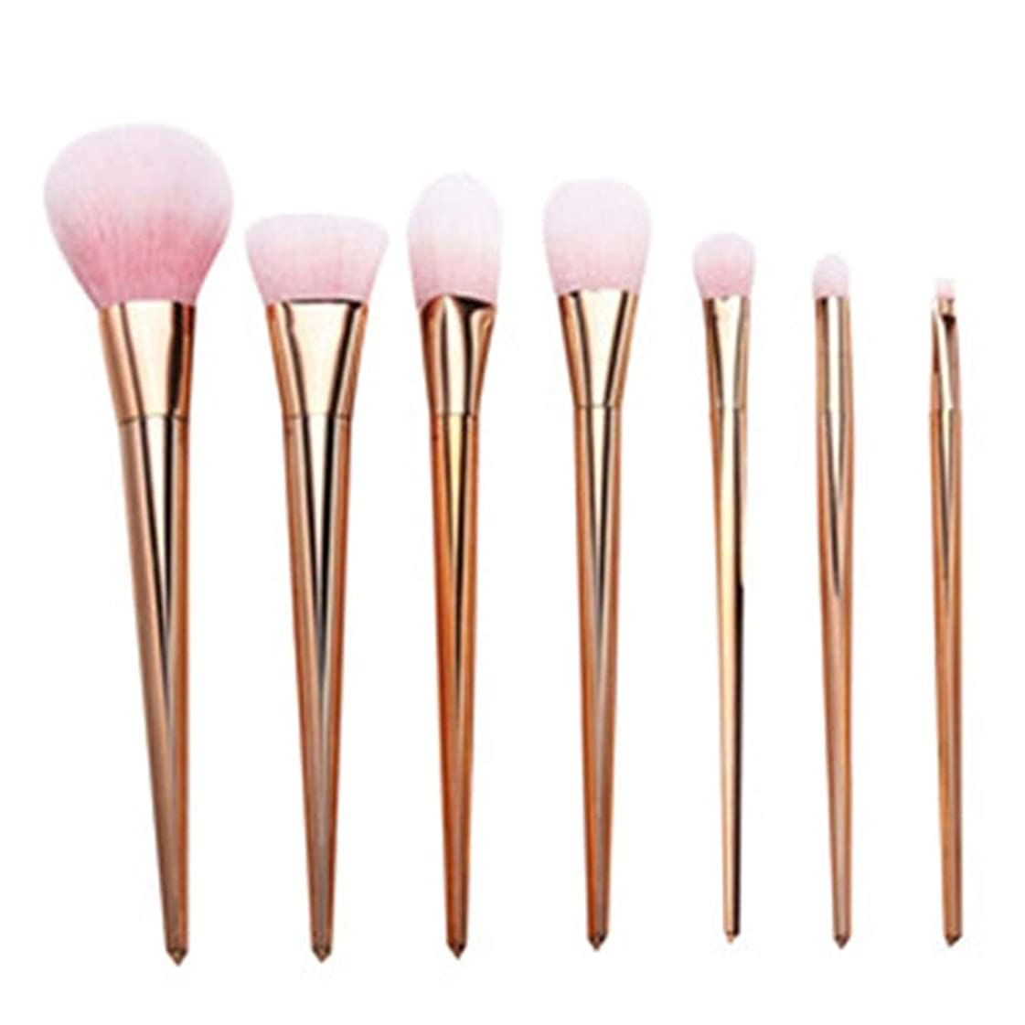 散文刺します角度プロ メイクブラシ 化粧筆 シリーズ 化粧ブラシセット 高級タクロン 超柔らかい 可愛い リップブラシツール 7本セット (Color : Rose Gold)