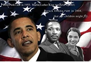 Buyartforless Our Children Will Fly by Zachary Brazdis 24x36 GICLEE Art Print Poster Barack Obama, Martin Luther King, ROSA Parks, American Flag, RED White and Blue, Black History