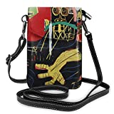 Hdadwy Cell Phone Crossbody Bag Jean Michel Basquiat Leather Smartphone Crossbody Wallet Purse, Women Small Crossbody Bag