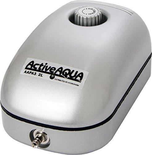 Hydrofarm AAPA3.2L Active Aqua Air Pump, 1 Outlet, 2W, 3.2 L/Min, White