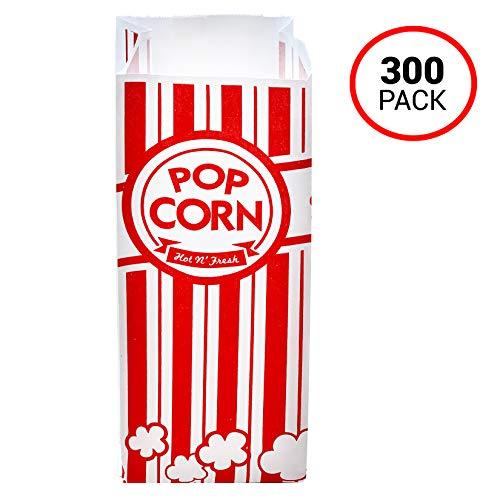 300 pk Popcorn Bags for Popcorn Machine, 1 oz Paper Popcorn Bags, Disposable Popcorn Bags for Any Event.