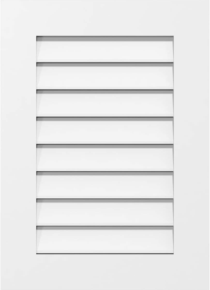 Ekena Millwork Ranking Long Beach Mall TOP19 GVPVE16X2201SF Vertical Surface PVC V Mount Gable