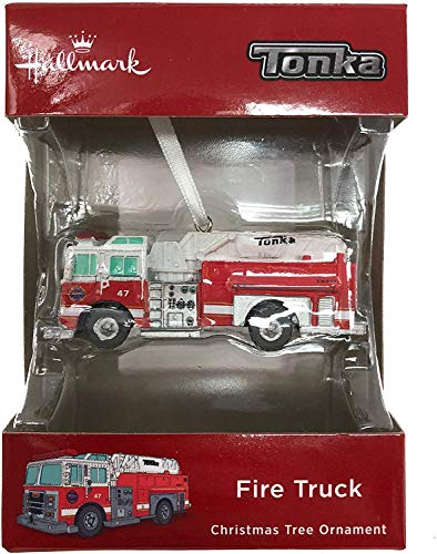 Price comparison product image Hallmark 2018 Tonka Red Fire Truck Christmas Ornament