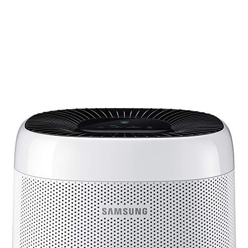 Samsung Elettrodomestici Purificatore d'Aria AX34R3020WW/EU Aria Visibilmente Pulita Sensore Polvere Sistema di Purificazione Modalità Auto Sicurezza Bambini, Copertura di 34 m2, Colore Bianco