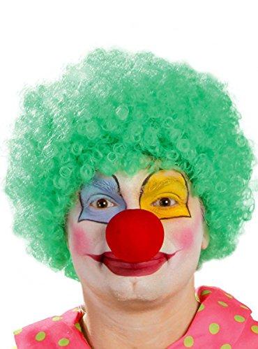 Guirca grüne Clown Locken Perücke für Erwachsene
