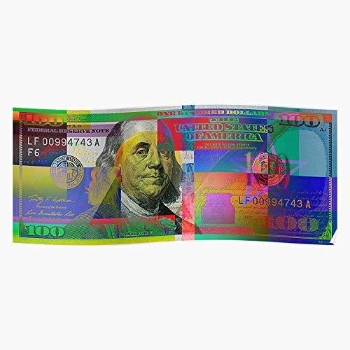 Averbukh Wealth by 100 Finances Colorized Serge One Hello Bill Pop Series Benjamin Visual New Dollar Financial Money 2009 Art Hundred Us Home Decor Wandkunst drucken Poster !