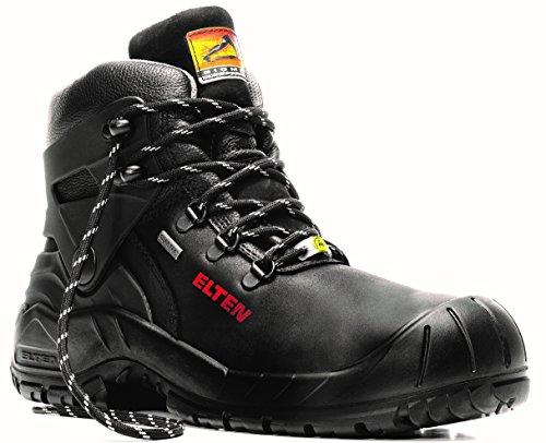 ELTEN Renzo Biomex GTX S3 CI Herren Sicherheitsschuhe, Arbeitsschuhe, Sicherheitsschnürstiefel, Zertifiziert nach EN ISO 20345 : S3 CI, Stahlkappe, Gore-Tex, Kälteisolierung (Schwarz), EU 43