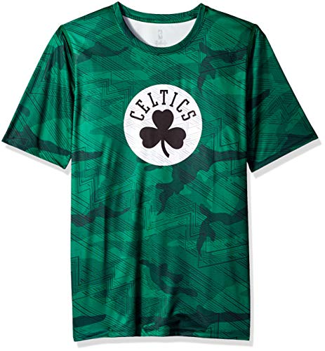 NBA by Outerstuff NBA Youth Boys Boston Celtics 'Full Assault' Sublimated Short Sleeve Tee, Sublimated Print, Youth Small(8)
