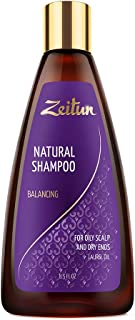 Zeitun Sulfate Free Shampoo - Clarifying Shampoo For Oily Hair & Scalp and Dry Ends - Balancing - Laurel Oil 8.5 oz