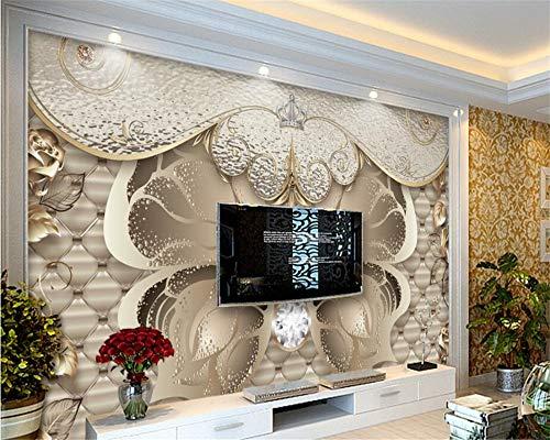 3D Wallpaper Wohnzimmer Schlafzimmer Benutzerdefinierte Tapete für Wände 3 d Europäische Luxus Soft Bag Gold Schmetterling Wohnzimmer Schlafzimmer TV Foto Tapete Papel Wandbild