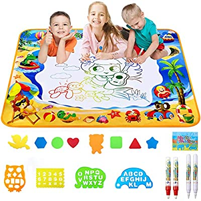 Toyard Doodle Mat, Large Aqua Magic Water Drawing Mat Toy Gifts for Boys Girls Kids Painting Writing Pad Educational Learning Toys for Toddler from Toyard