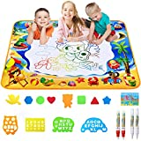 Toyard Doodle Mat, Large Aqua Magic Water Drawing Mat Toy Gifts for Boys Girls Kids Painting Writing Pad Educational Learning Toys for Toddler