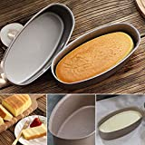 EORTA 8 Inch Oval Shaped Cake Pan Cheesecake/Loaf Mold Non-Stick Aluminum Baking Mold for Loaf, Bread, Meat, Silvery
