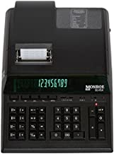 (1) Monroe 8145X 14-Digit Printing Calculator with Dual Memory Function and Extended Life Calculator Body