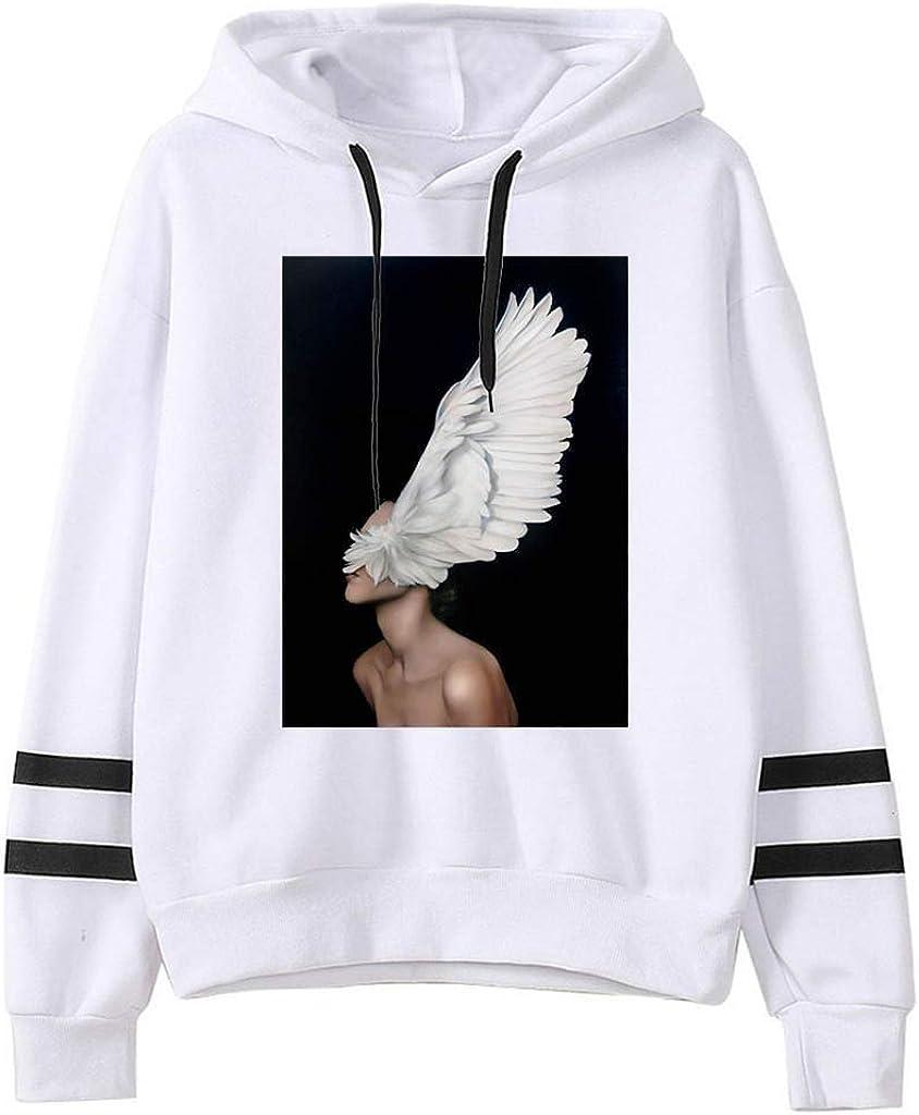 Girls' Hoodie, Misaky Autumn Winter Casual Loose Wings Print Pocket Long Sleeve Pullover Hooded Sweatshirt