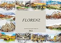 Florenz Hauptstadt der Toskana (Tischkalender 2022 DIN A5 quer): Die Stadt Florenz in Aquarell (Monatskalender, 14 Seiten )