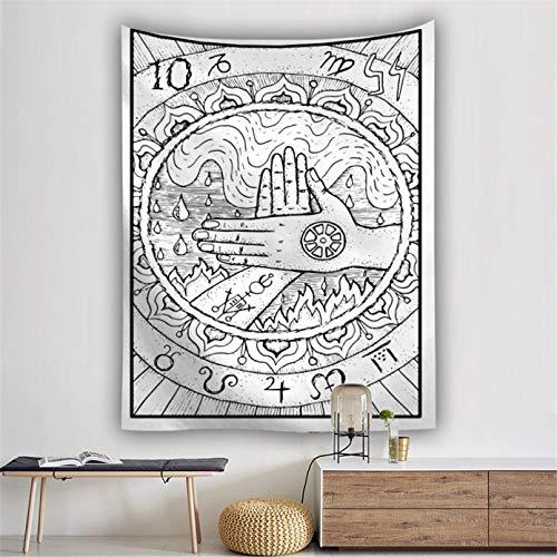 N/A Impresión 3D De Tapices Tapiz De Lobo De Goddness De Luna Colgante De Pared Tapiz De Adivinación De Tarot De Europa Medieval Tapiz Decoración 130 Cm X 150 Cm