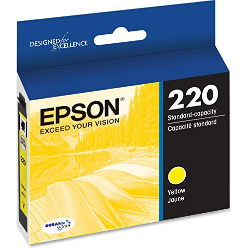 EPSON T220 DURABrite Ultra Ink Standard Capacity Cyan Cartridge (T220420-S) for select Epson Expression and WorkForce Printers