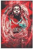 ZRRTTG Mural con Estampado De Arte Baloncesto D'Angelo Russell para la decoración Familiar Moderna PóSter Lienzo Pintura Pared 23.6'x35.4'(60x90cm) Sin Marco