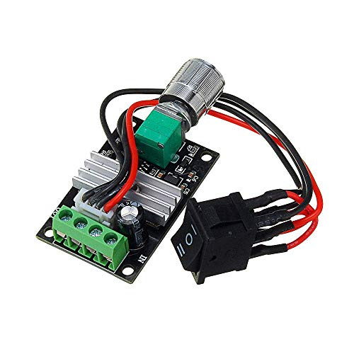 KEKEYANG 5pcs DC 6V 12V 24V 28V 3A 80W PWM Motor Speed Regulator Controller Adjustable Variable Speed Control Switch Driver Modules Tools