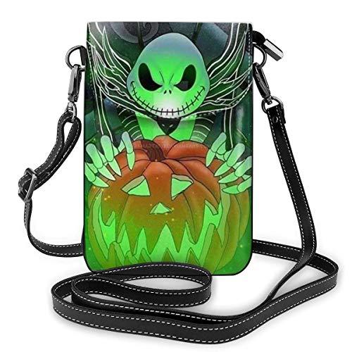 Bolsos cruzados para mujer – Pesadilla antes de Navidad Jack Pumpkin Pequeño monedero para teléfono celular con ranuras para tarjetas de crédito