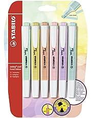 Stabilo Swing Cool Pastel Edition Markeerstiften 6er Pack Pastel-/6 kleuren.