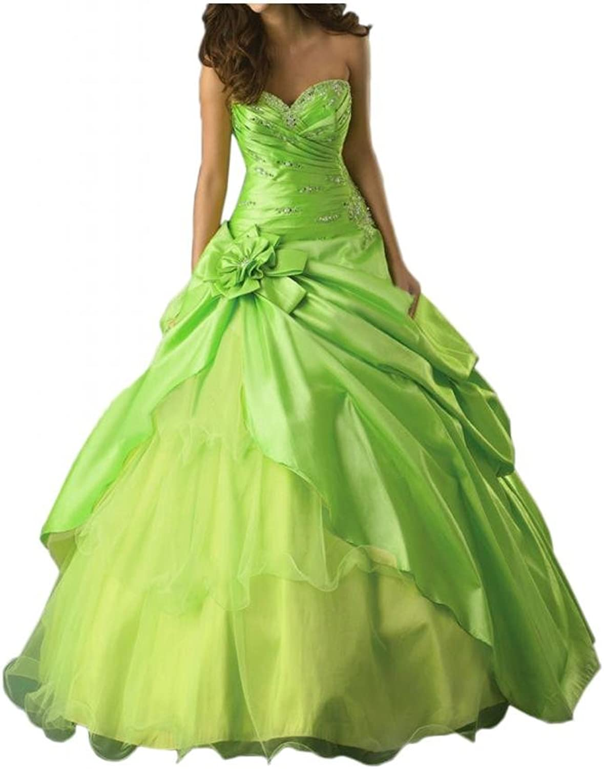 Angel Bride Bright Sweetheart Flower Ruffles Taffeta Tulle Quinceanera Dresses