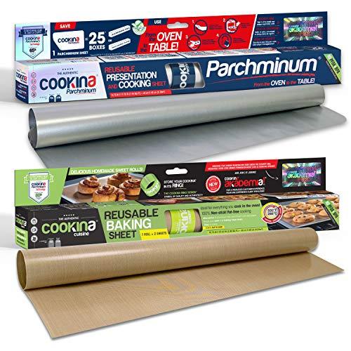 COOKINA Cuisine & ParchAluminum Lot de feuilles de cuisson antiadhésives - 0