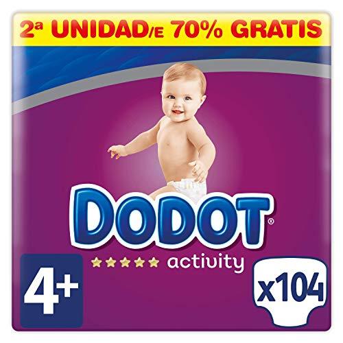 Dodot Activity Pañales Talla 4+, 104 Pañales - 10-15 kg