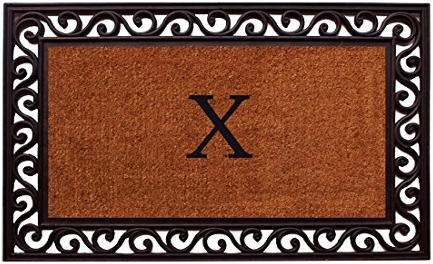 Home & More 100061830X Rembrandt Monogram Doormat 18-Inch X 30-Inch (Letter X)