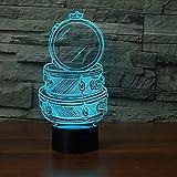 Led 3D Music Drum Set Mesa Lámpara de escritorio 7 colores que cambian Acrílico Luz de noche USB Dormitorio Decoración de cabecera Regalos para niños Iluminación para dormir