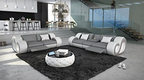 Sofa Dreams Couchgarnitur mit Relaxfunktion und Beleuchtung 3er 2er Nesta