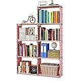 MOAMUN Estantería en forma de cubo con 7 compartimentos, estantería con cubos, organizador de archivos, armario para salón, habitación de los niños, libros, ropa, juguetes (Color3)
