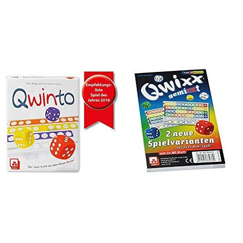 NSV - 4036 - QWINTO - Würfelspiel & 4033 - QWIXX GEMIXXT - Zusatzblöcke 2-er Set - Würfelspiel