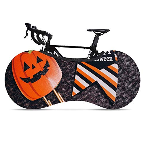Bike Wheel Cover Halloween Anti-Dust Indoor Mountain Bike Storage Bag Washable High Elastic Bicycle Scratch-Proof Protective Gear Tire Package for MTB Road Bike Keeps Floors and Walls Dirt-Free