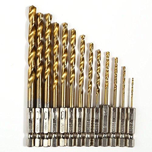 Demiawaking codolo esagonale, Set da 13 pezzi ad alta velocità, in titanio a cambio rapido per punte da trapano cobalto-Set punte multifunzione, 6,5 mm, 1