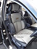 To Fit A Mazda Bongo, Car Seat Covers, Ys 01 Rossini Grey/Black, 2 Fronts
