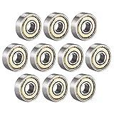 ZHITING Cuscinetti a Sfere 626ZZ 6mm x 19mm x 6mm a Doppia schermatura 626-2Z 80026 Cuscinetti radiali rigidi, Acciaio al Carbonio Confezione da 10