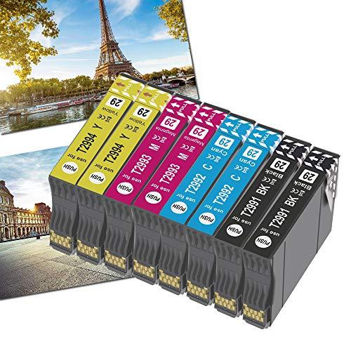 OGOUGUAN - Recambio para 29 29XL para Expression Home XP-342, XP-245, XP-442, XP-235, XP-335 XP-432, XP-435, XP-332, XP-345 XP-247 XP-445 (2 negro,2 cian, 2 amarillas, 8 paquetes)