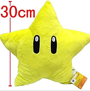 SY-001 11'' Super Mario Bros Yellow Plush Starman Star Plush Toy Doll Best Xmas Gift for Kids
