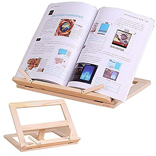 Atril Musica YNDHD Soporte de estantería de lectura de marco de madera - Lectura de libros Soporte de música Mesa de madera Dibujo Caballete 31 * 25 cm Tipo 2