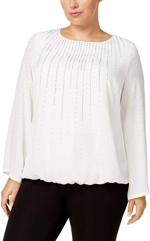 Alfani Plus Size Embellished Blouson Top
