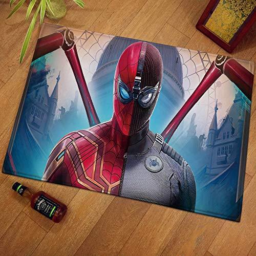 Taosheng Tapis Spiderman 60 x 40 cm Décoration de salle de bain Tapis d