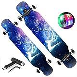 WY&WY Longboard Skateboard Skateboards Profesionales Scooter Estándar 107 Cm Skateboard Cruiser Dance Board 8 Capas...