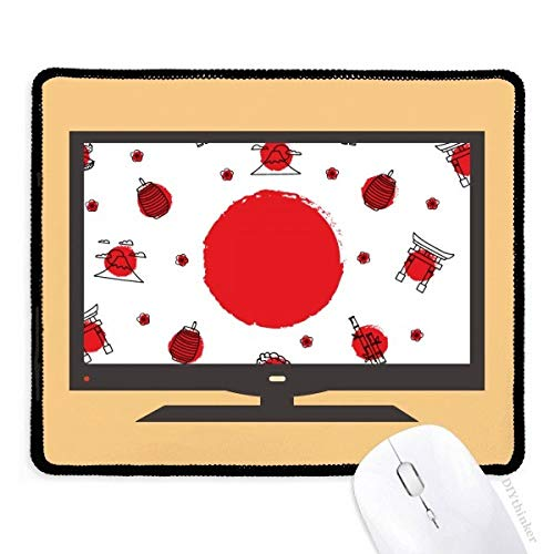 Japan Cultuur Nationale Vlag Lantaarn Computer Mouse Pad Niet-slip Rubber Mousepad Game Office