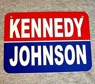 TiuKiu Metal Sign John F Kennedy Presidential Campaign Poster Lyndon B Johnson JFK President of The United States of America Wall Plaque