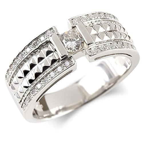 [アトラス] Atrus リング メンズ pt900 プラチナ900 ダイヤモンド 大粒 スタッズ 指輪 太め ピンキーリング 幅広29号