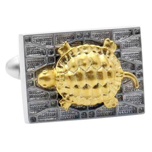 亀 ゴールド カフス カフスボタン カフリンクス c0162