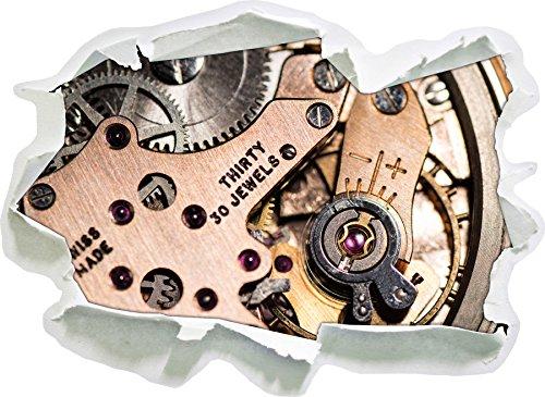 stilvolles Uhrenwerk, Papier 3D-Wandsticker Format: 92x67 cm Wanddekoration 3D-Wandaufkleber Wandtattoo